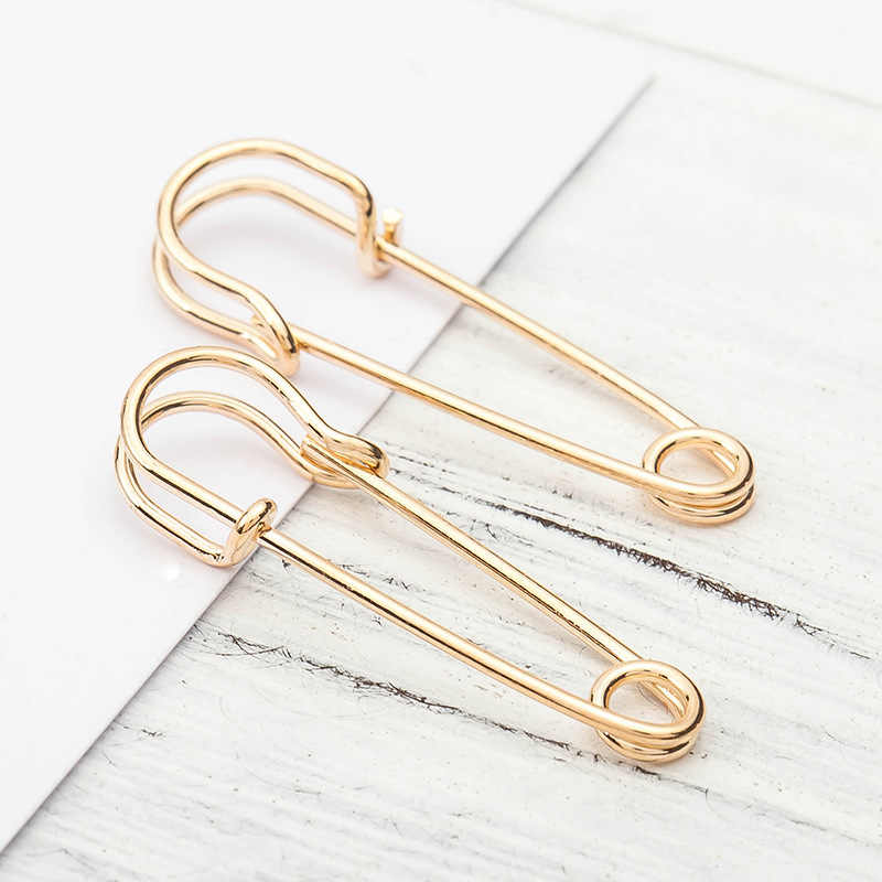 8 עונות Creative אופנה פאנק עגיל פשוט קטן פין Stud עגילי מתכת זהב כסף צבע נשים גברים תכשיטי 1 זוג