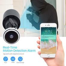 TF Card WIFI Audio Door Eye Hole Home 1080P 1.78mm Wide Angle FishEye Lens Network Mini Peephole wifi Door IP Camera P2P icsee