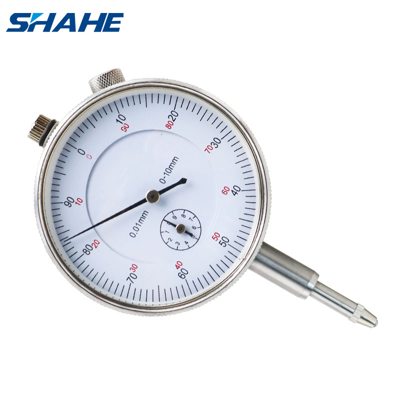 Shahe 0-10mm 0.01mm Dial Indicator With Lug Back Measurement Dial Gauge Instrument Tool Dial Gauge 0-10 Mm Stable Performance