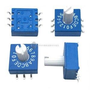SMD 0-F поворотный кодировщик с ручкой DIP-переключатель 10 бит 16 бит PCB кодировщик 8421C положительный код 3 : 3