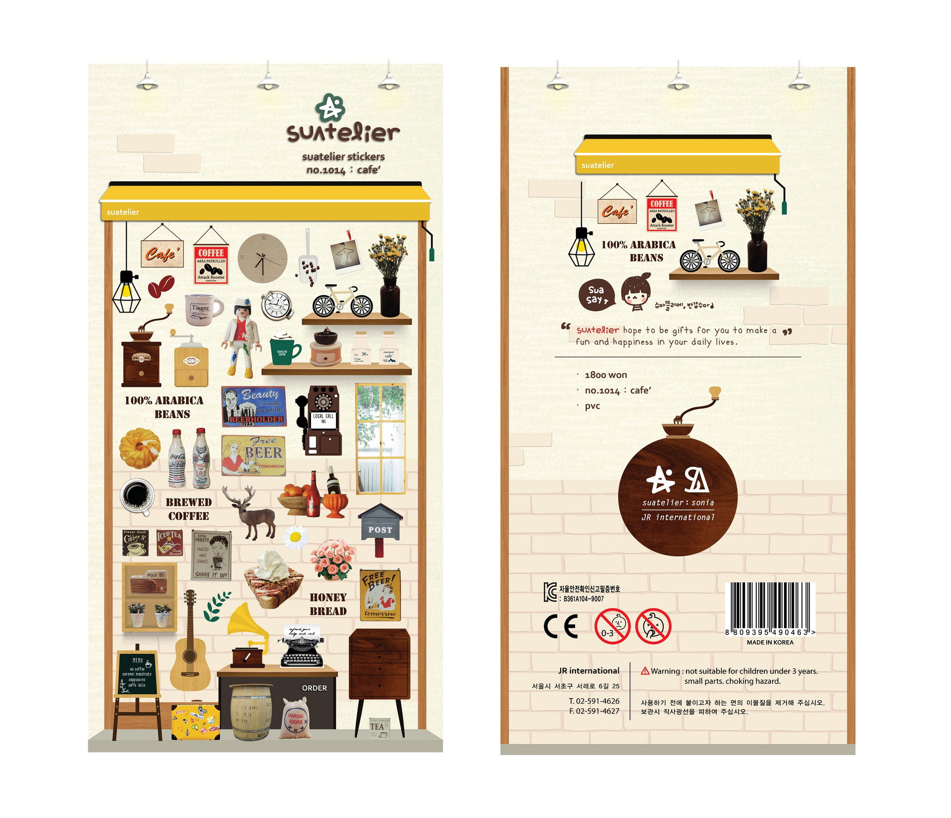 Korean Import Brand Sonia Vintage Coffee Store Ins Stickers Scrapbooking Diy  Diary Stationery Stickers Supplies