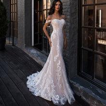Свадебные платья русалки романтические богемные кружевные свадебные