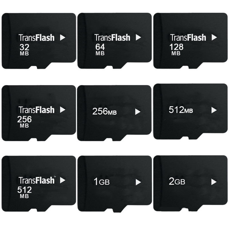 Big Promotion!!! 10pcs/lot 64MB 128MB 256MB 512MB 1GB 2GB 4GB 8GB TF Card Transflash Micro SD Card TF Memory Card