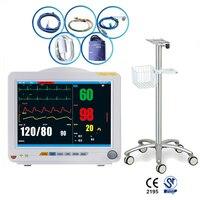 12.1inch TFT ICU Patient Monitor Multi Parameter ECG SPO2 PR EKG RESP TEMP NIBP Temperature