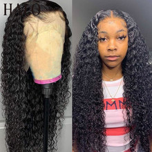 Onda profunda brasileira 30 40 Polegada 13x6 frente do laço perucas de cabelo humano encaracolado água 250 densidade 5x5 fechamento peruca frontal para preto