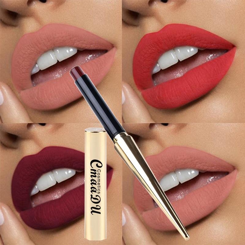Hot Sales 12 Colors Matte Lipsticks Waterproof Long Lasting Lips Makeup Pigment Nude Sexy Red Lip Tint Matte Lipstick Cosmetic