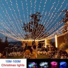 Светодиодная гирлянда на рождественскую елку, 10 м, 100 м
