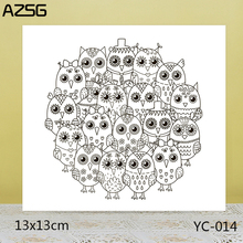 ZhuoAng Big eyes owl Clear Stamps For DIY Scrapbooking/Card Making Decorative Silicon Stamp Crafts
