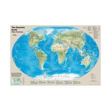 The Dynamic Earth Plate Tectonics Map With Deadliest Earthquakes Of 20th And 21st Centuries 150x100cm