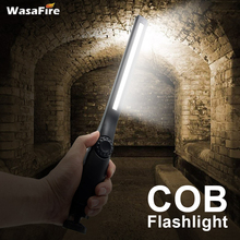 Magnetic USB Rechargeable LED Flashlight Built-in Battery COB Working Light Lantern Portable 4 Modes Camping Emergency Hand Lamp
