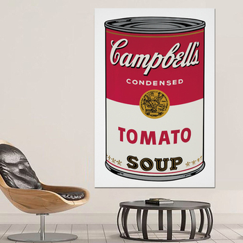 Pop Art Print Wall Painting Andy Warhol Tomato Soup Abstract Art Decorative Picture Wall Art Prints For Living Room Unframed свитшот print bar text pop art
