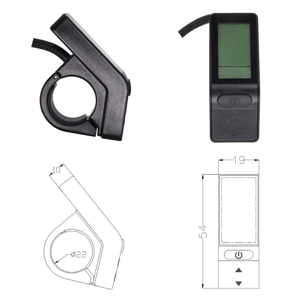 KT-LCD4 Mini Anzeige Elektrofahrrad Kontrolle Panel Meter E-Bike Display