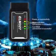 ELM327 와이파이 블루투스 V1.5 PIC18F25K80 칩 OBDII 진단 도구 아이폰 안드로이드 ELM 327 V 1.5 ICAR2 OBDSCAN 스캐너 코드 리더