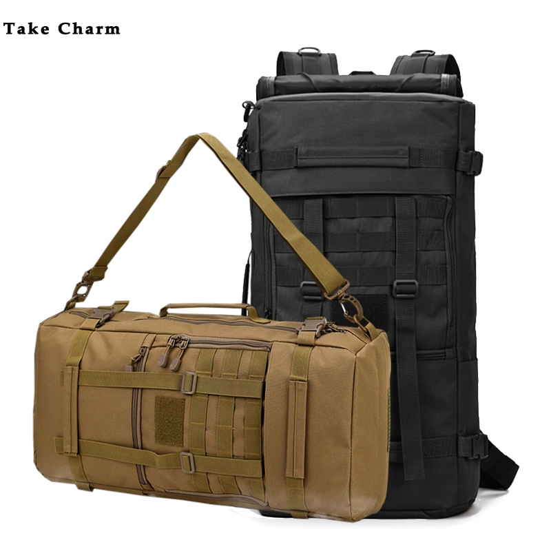 Camouflage Large Capacity Travel Bag Men Oxford Cloth Outdoor Waterproof Durable Multi-function Backpack Black Laptop Bags