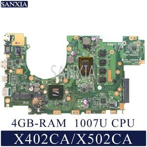 KEFU X402CA Laptop motherboard for ASUS X502CA original mainboard DDR3L 4GB-RAM 1007 CPU(China)