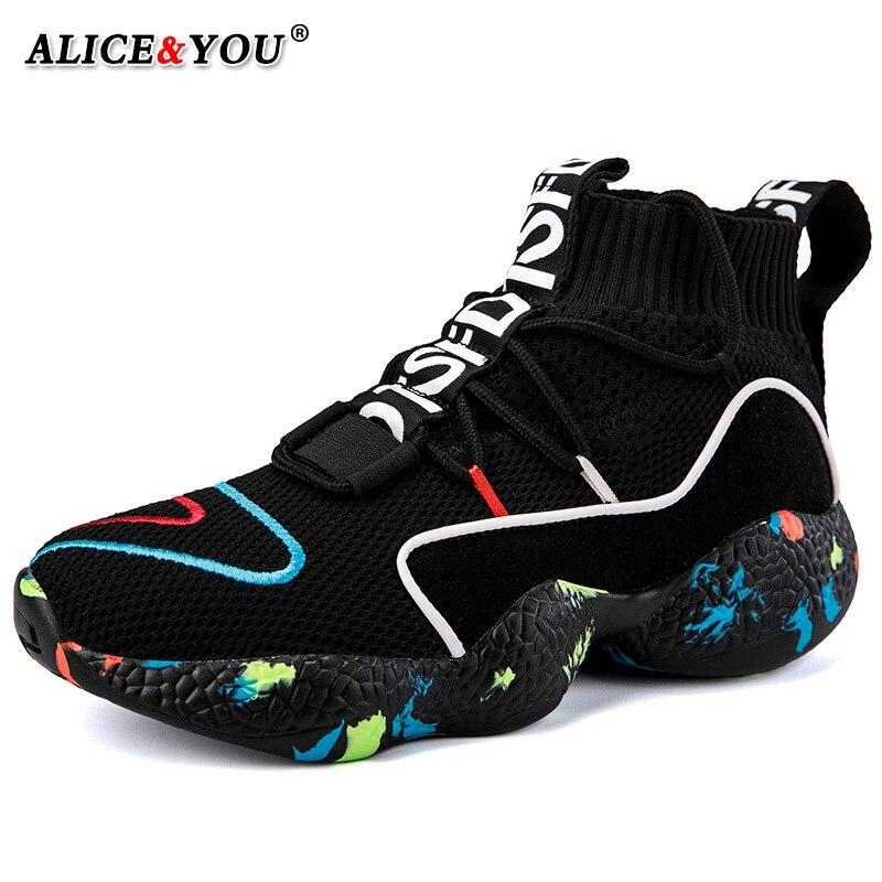 Sock Sapatos Para Sapatos Masculinos dos homens Sapatos Casuais Tênis Respirável Leves Sapatos de Sola Grossa Moda Preto Branco Colorido Big Size 48