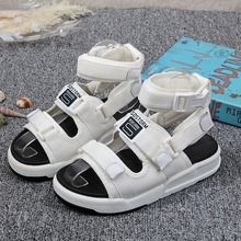 Buckle Leather Sandals Women Spring Summer Thick Bottom Shoes Fashion Casual High Platform Sandals Med Heel Wedges Walk Shoes aimeigao summer wedges platform women sandals square thick heel pu leather shoes soft bottom mixed colors shoes for women