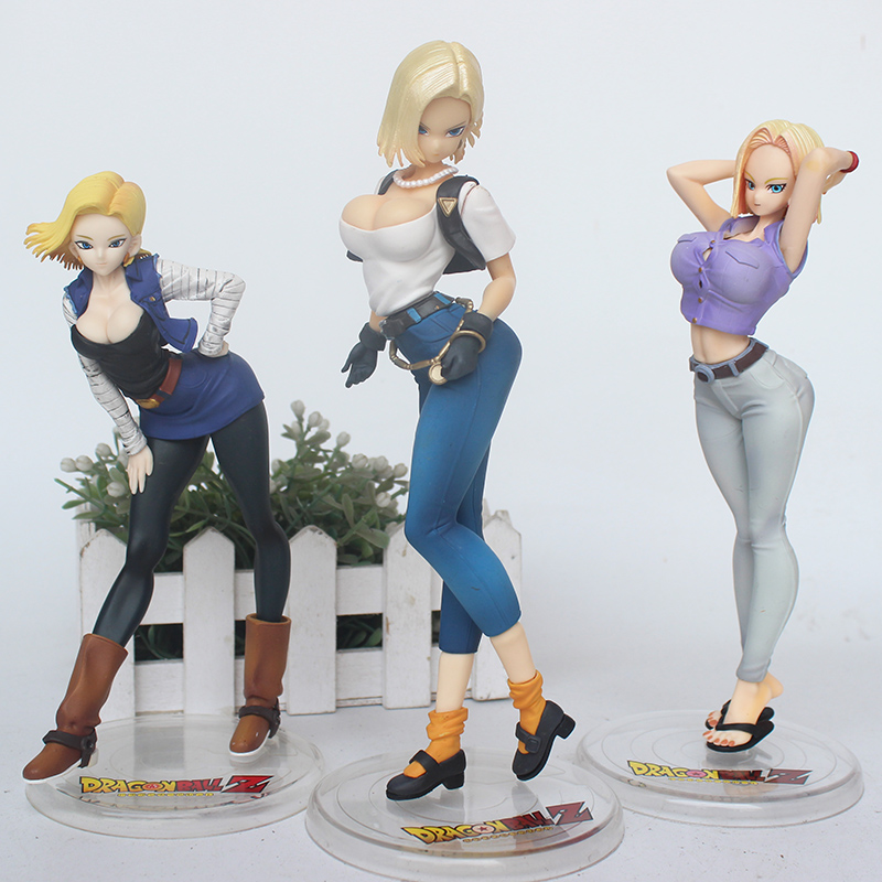 3styel Dragon Ball Z <font><b>Sexy</b></font> Android <font><b>18</b></font> lazuli DragonballAction figure Toys Collection Doll Christmas gift image