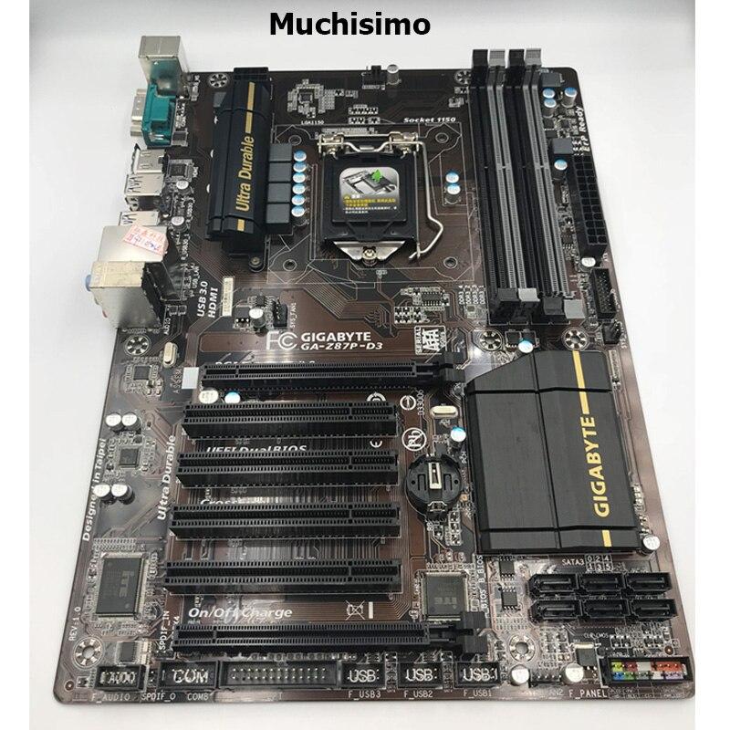 For Gigabyte GA-Z87P-D3 Original Desktop Motherboard Z87P-D3 Z87 LGA 1150 Z87P I3 I5 I7 DDR3 32G ATX Mainboard Used