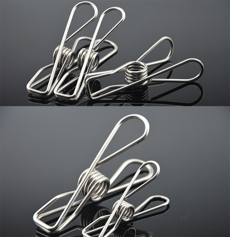 6cm Stainless Steel Clips Clothes Pins Pegs Holders Clothing Clamps Sealing Clip Household Clothespin Clips for Hangers