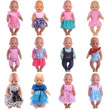 Ubranka dla lalki spódnica garnitury 15 style dla 18 Cal amerykańska lalka i 43 Cm laleczka bobas w odniesieniu do wytwarzania zabawka dla dziewczynek akcesoria dla lalek tanie tanio ZWSISU Tkaniny 18 Inch American Doll 43 Cm Born Doll Unisex Styl życia Stay away from the fire