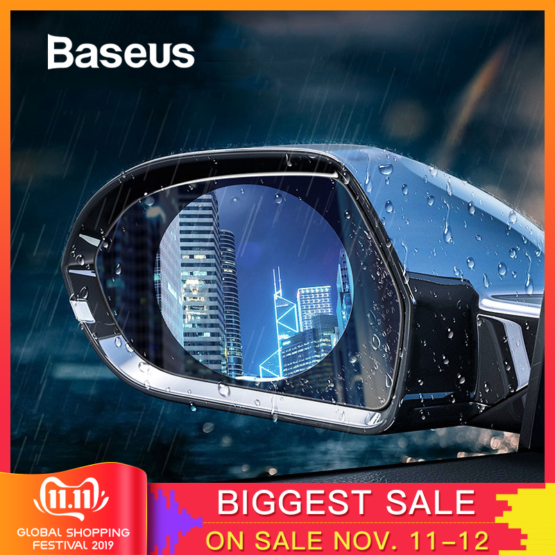 Baseus 2 Pcs 0.15mm Car Rearview Mirror Window Clear Film Anti Fog Window Foils Rainproof Protective Car Sticker-in Car Stickers from Automobiles & Motorcycles