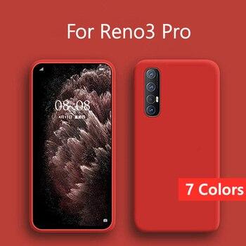 Перейти на Алиэкспресс и купить Чехол для OPPO Reno 3 Pro, чехол для OPPO Reno3 Pro, жидкий силиконовый мягкий резиновый защитный чехол для задней панели, чехол для телефона Reno 3 Pro