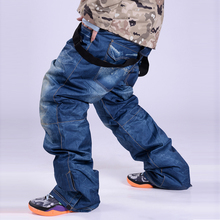 Уличные мужские зимние лыжные брюки профессиональные сноубордические брюки водонепроницаемый ветрозащитный защита от снега брюки дышащие теплые лыжные брюки мужские