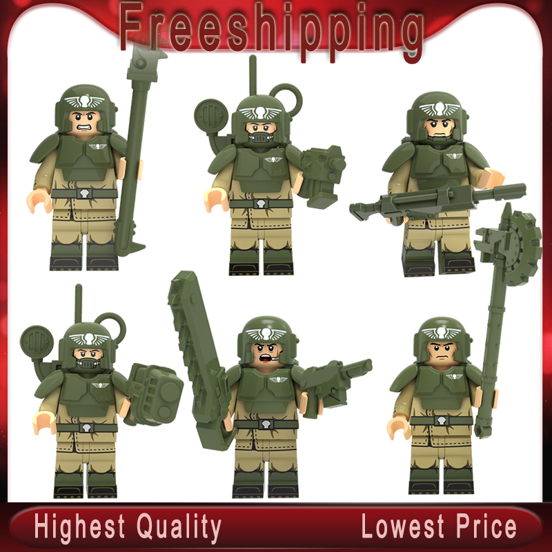 Legoing Military Army City Police With Gun Mini Dolls MOC Action Figures Building Blocks Brick Children Toys Gifts KT1037