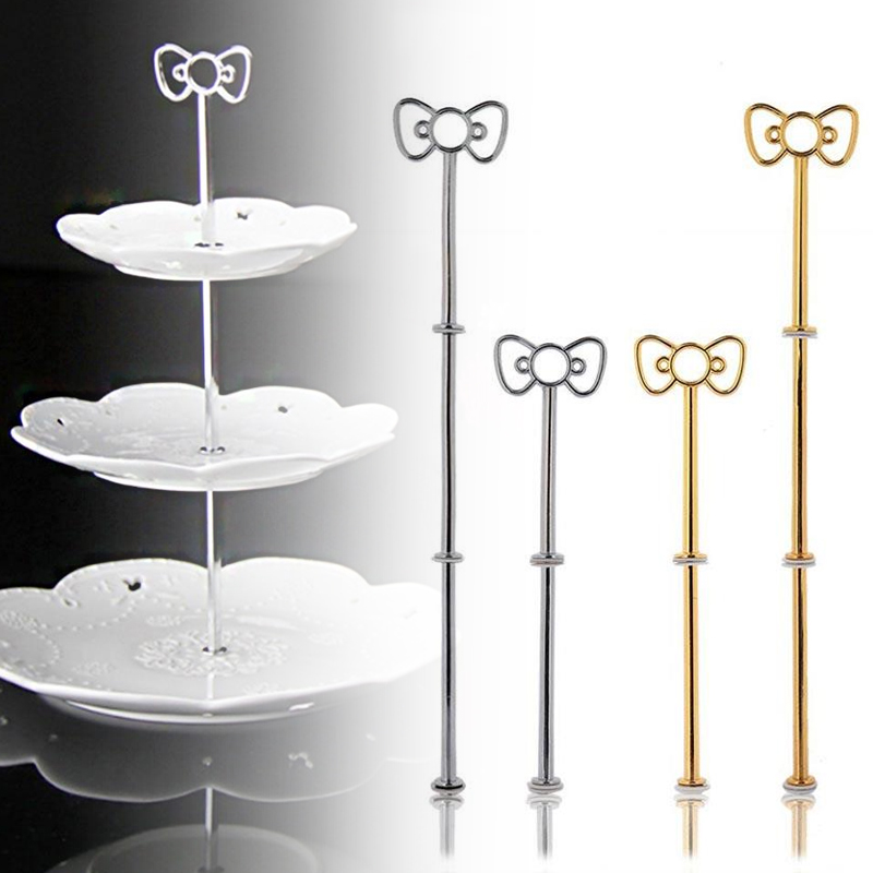 Bow Cake Plate Stand <font><b>Holder</b></font> Desserts Pastry <font><b>Cheese</b></font> Candy Display Rack Alloy image