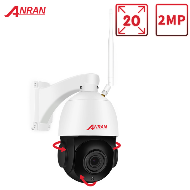 Anran 1080 720p ptz ip カメラ屋外防水スピードドームカメラ 20 × ズームレンズ 60 メートル赤外線ナイトビジョンセキュリティカメラサポート onvif