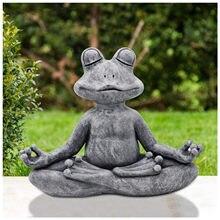 Jardim decoração ao ar livre meditando zen jardim yoga estatueta resina poli escritório quintal decoração ornamento decoração para quintal