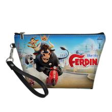 HaoYun Cosmetic Bag Ferdinand Pattern Functional Cartoon Women Fashion Leather Travel Make Up Necessaries Pouch Toiletry Kit