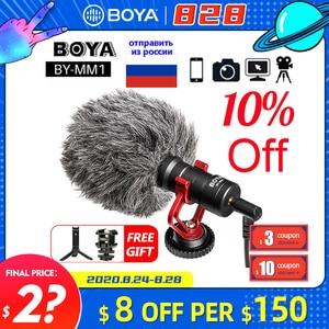 Image 1 - BOYA BY MM1 Microphone sur caméra enregistrement vidéo micro Microfone pour Xiaomi DJI Osmo poche DSLR appareil photo Sony iPhone