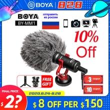BOYA BY MM1 mikrofon kamera Video kayıt mikrofon mikrofon Xiaomi DJI Osmo cep DSLR kamera Sony iPhone