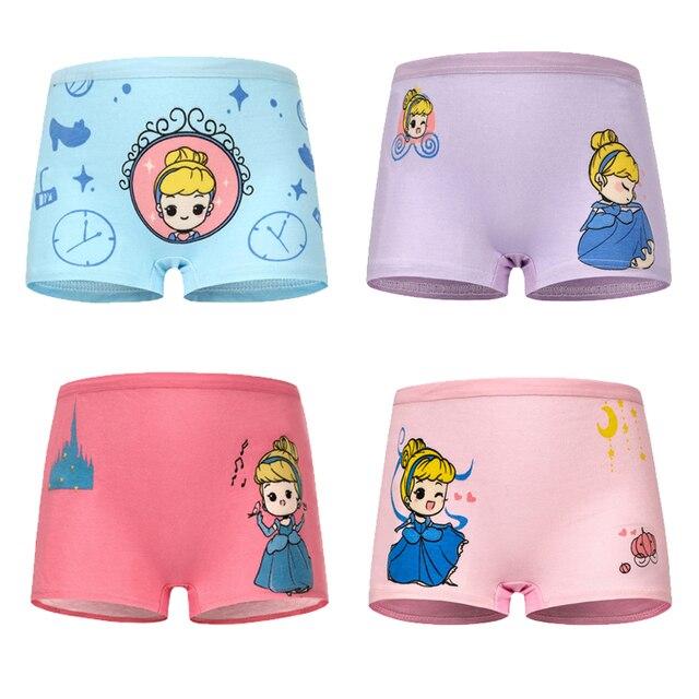 Mädchen Höschen 4 Stück Baumwolle mit Cartoon Druck Mädchen Unterhose Kinder Slip 2-12 Jahre 4