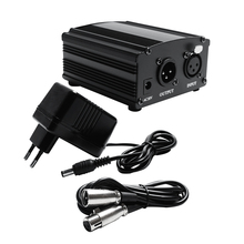 48V Phantom Power Für BM 800 Kondensator Mikrofon Mit 2M XLR Audio Kabel für Microfone 3 Farben EU stecker Karaoke Mic Power