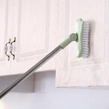 QDRR 1PCS Telescopic bathroom long handle hard bristle brush scrub toilet bathtub brush tile floor cleaning brush