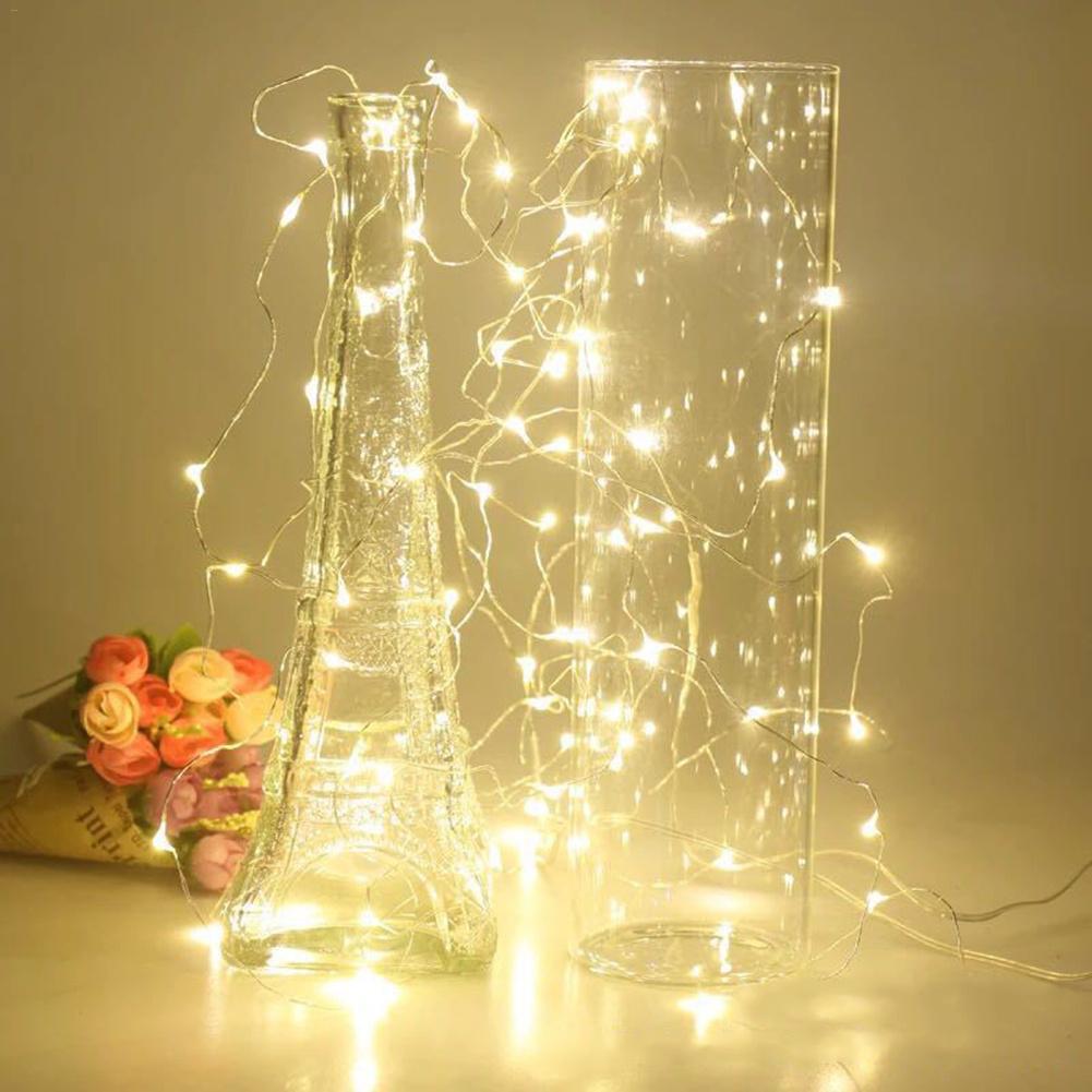 8W LED String Light Copper Wire Fariy Light,USB Connector Garland Decoration 1M 2M 3M 4M Wedding Christmas Light Party Lights