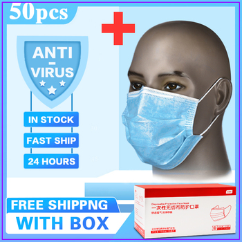 10/20/30/200pcs White Disposable Face Mask 3 Layer Anti Virus Mouth Face Mask Prevent Anti-Dust Bacteria Proof Flu kind M