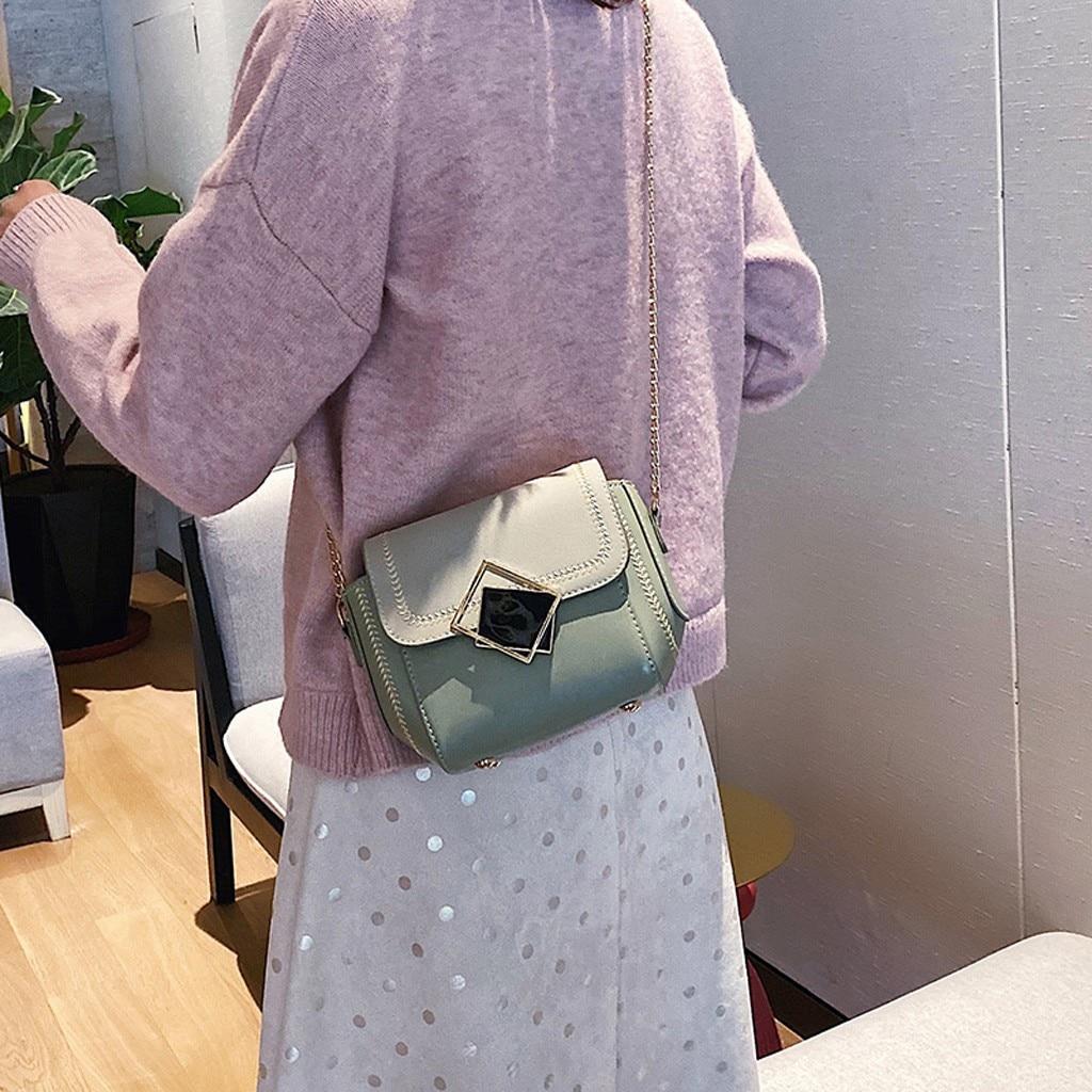 Women' s Shoulder Bag Fashion 2019 Vintage Leather Bags Handbags Trend Chain Strap Leather Large Capacity Messenger Bag #NG