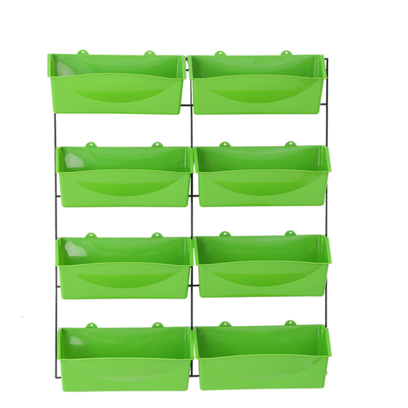 Rack Suspension Flowerpot Grow Vegetables Pylons Wall Hanging Type Multi-storey Group Close Rectangle Railing Plant Artifact