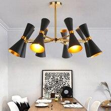 Modern minimalist boynuz kolye ışıkları kişilik yaratıcı oturma odası yatak odası restoran çalışma cafe demir aydınlatma armatürü
