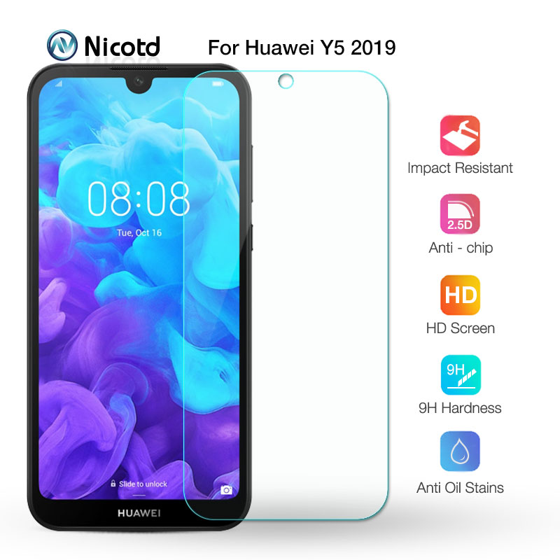 For Huawei Y5 2019 Tempered Glass On Y5 2019 Screen Protective Glass On For Huawei Y5 2019 AMN-LX9, AMN-LX1, AMN-LX2, AMN-LX3