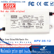 цена на Redsky [P1] MEAN WELL original APV-35-12 12V 3A meanwell APV-35 12V 36W Single Output LED Switching Power Supply