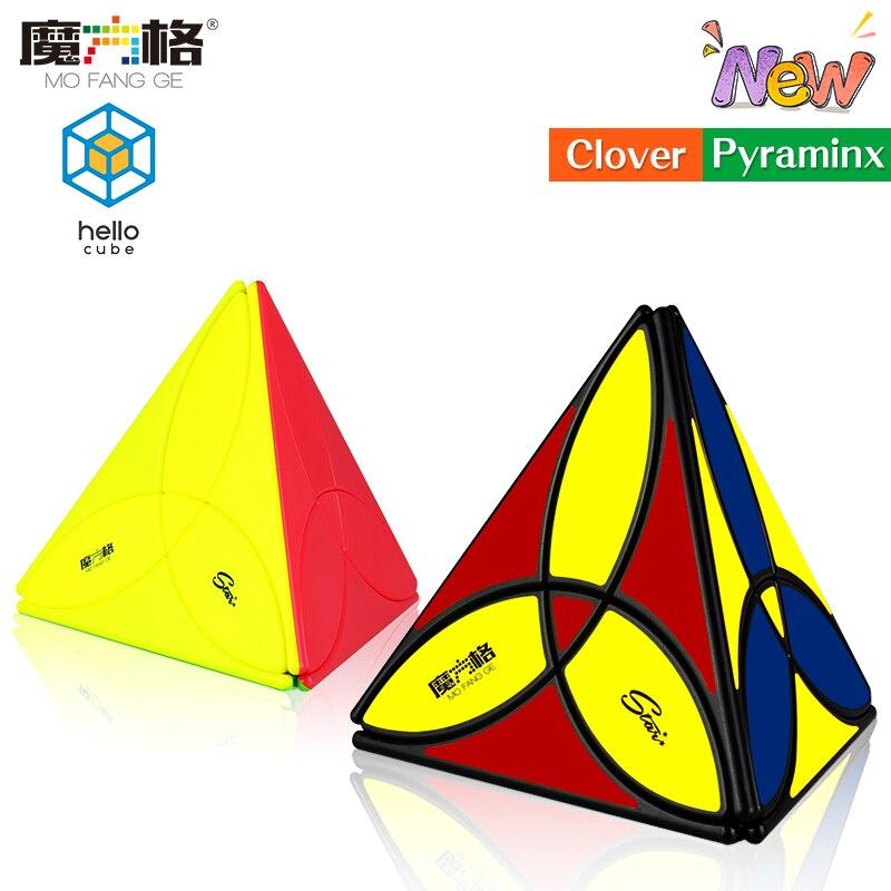 HelloCube QiYi Clover Pyramid Magic Cube Newest Clover Magic Cube Strange Shape Magic Cube Toy Kids Gift