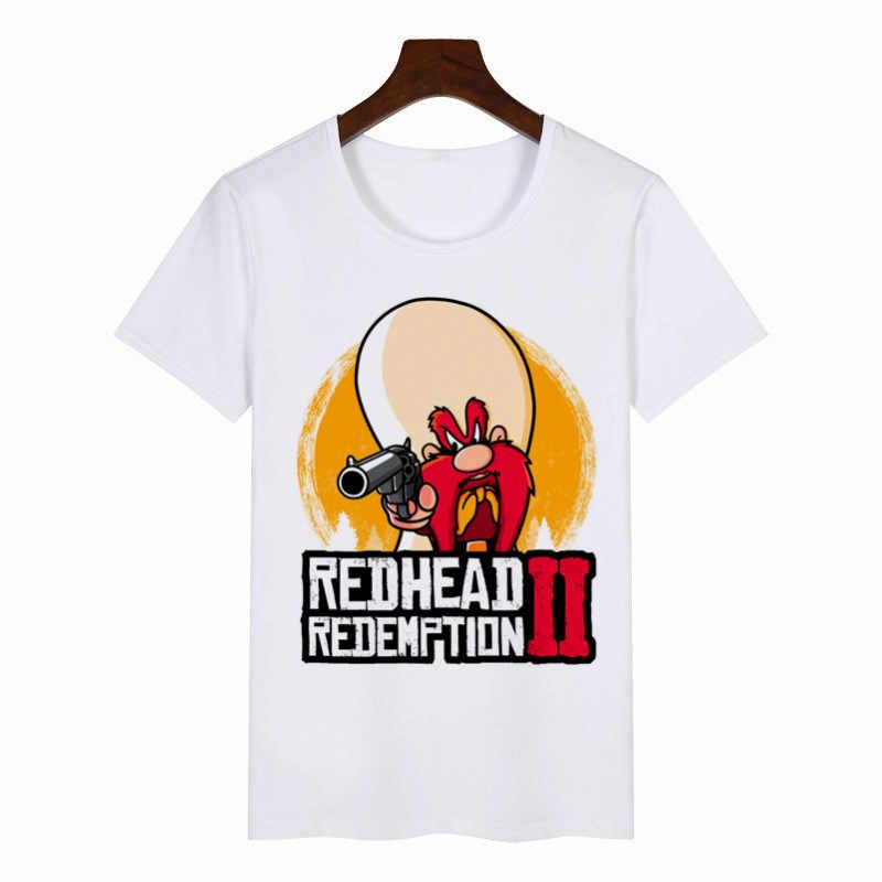 2019 新しい夏の女性の Tシャツ赤デッド償還グラフィック Tシャツ女性原宿 Tシャツアニメ女性トップス美的服