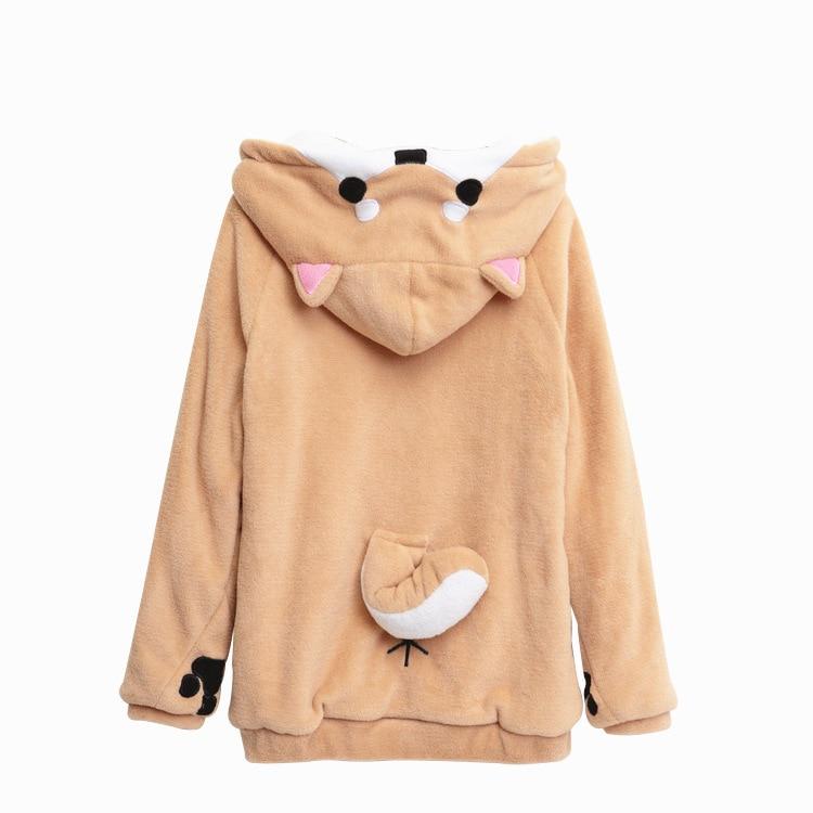 Doge Lovely Muco/Home Has Mu Ke Shiba Inu Theme Hooded Coat Anime Hoodie