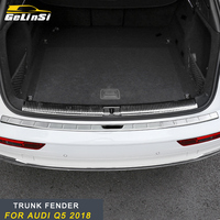GELINSI for 2018 Audi Q5 FY Car Rear Trunk Pad Bumper Fender Decoration Chrome Sticker Frame Trim Cover Exterior Accessories