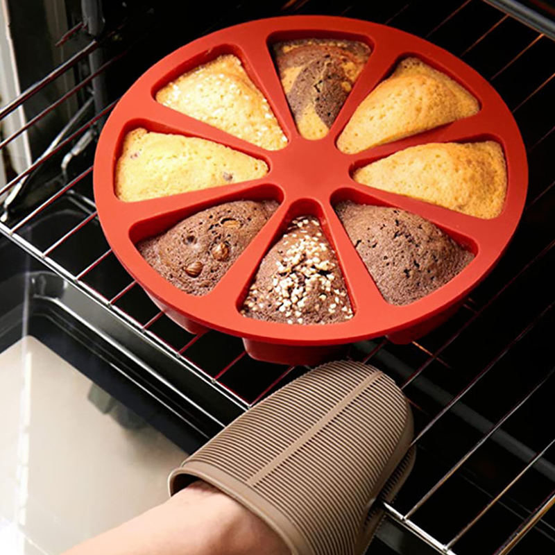 8 Cavity Silicone Cake Mold DIY Baking Pastry Scone Pans Tools Cake Mould Oven Bread Pizza Bakeware Cake Mould